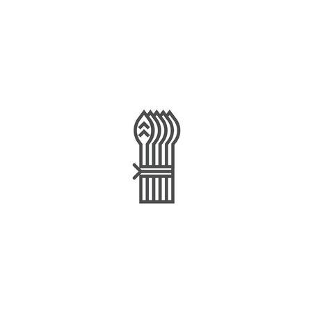 Asparagus icon design. Gastronomy icon vector illustration design Banco de Imagens - 128896402