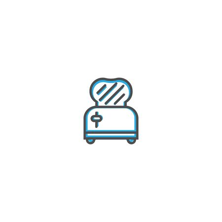 Toaster icon design. Gastronomy icon vector illustration design