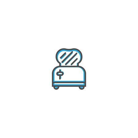 Toaster icon design. Gastronomy icon vector illustration design Standard-Bild - 128896497