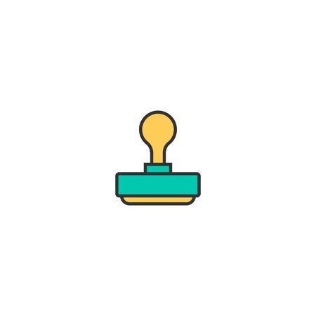 stamp icon line design. Business icon vector illustration