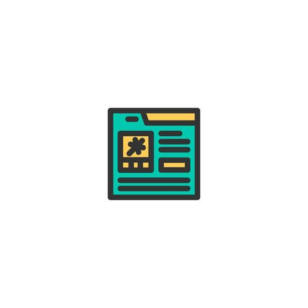 Online Shopping icon design. e-commerce icon vector illustration