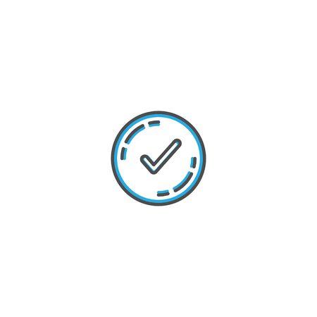 Checked icon design. Shopping icon vector illustration