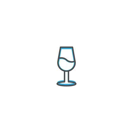 wine glass Icon Design. Lifestyle icon vector design Stock Illustratie