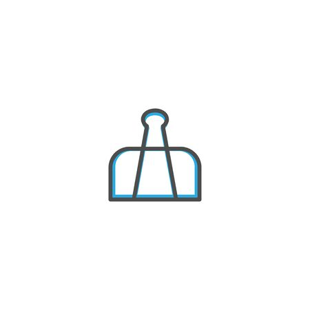 Paper clip icon design. Stationery icon vector illustration