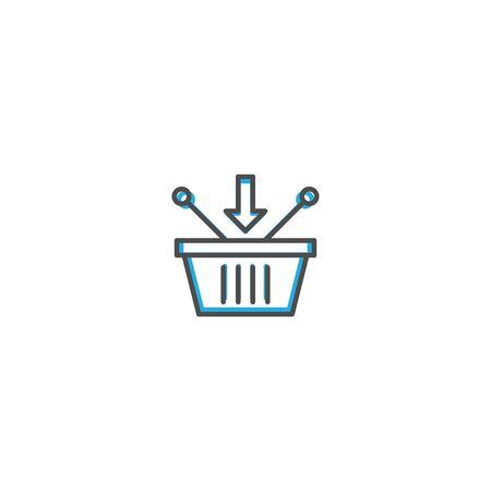 Shopping basket icon design. Shopping icon vector illustration