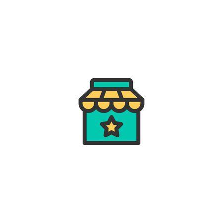 Shop icon design. e-commerce icon vector illustration