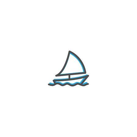 Sailboat icon design. Transportation icon vector illustration