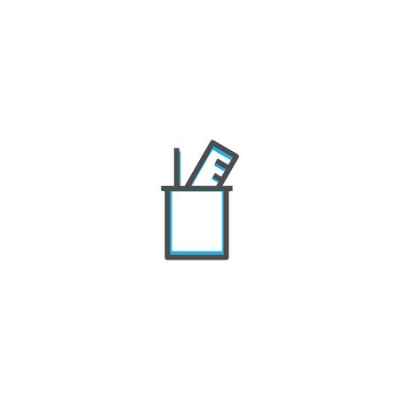 School supplies icon design. Stationery icon vector illustration