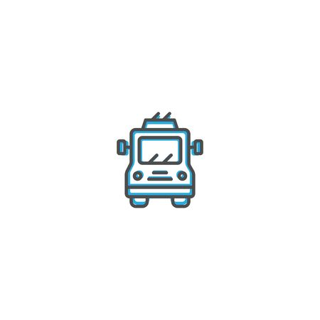 Trolley bus icon design. Transportation icon vector illustration