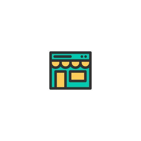 Shopping online icon design. e-commerce icon vector illustration