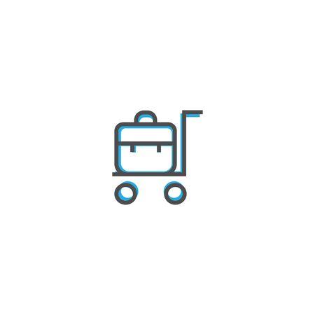 Trolley icon design. Transportation icon vector illustration  イラスト・ベクター素材