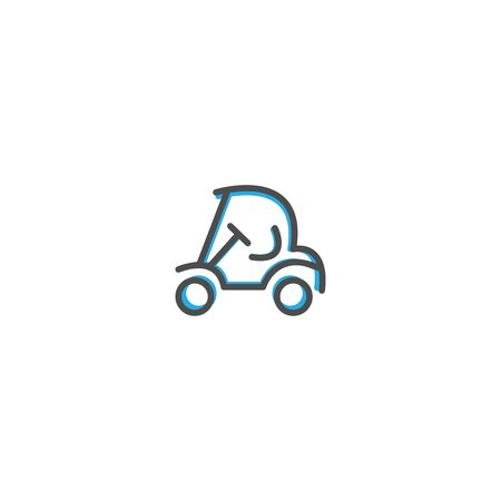 Golf cart icon design. Transportation icon vector illustration