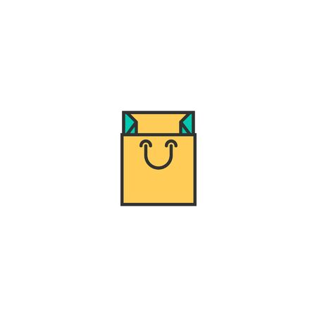 bag icon line design. Business icon vector illustration