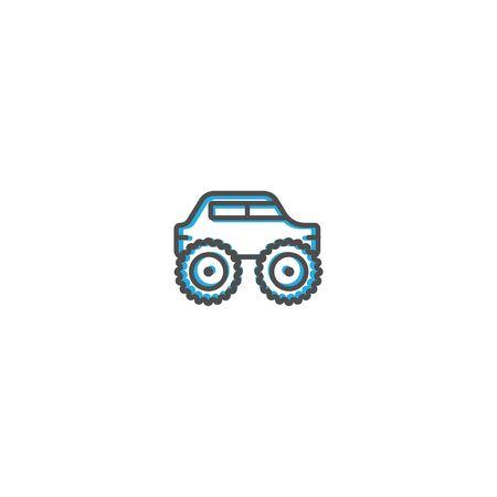 Monster truck icon design. Transportation icon vector illustration Stock Vector - 128903448