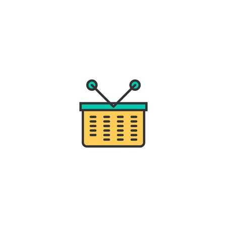 basket icon line design. Business icon vector illustration