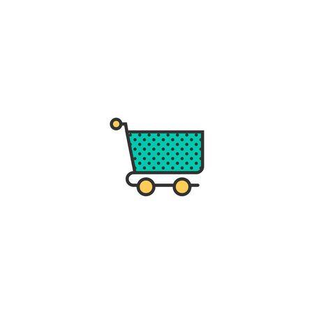 cart icon line design. Business icon vector illustration  イラスト・ベクター素材