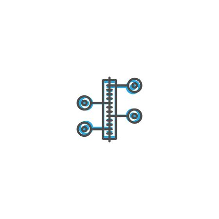 Modern and minimalist icon design. Management icon vector design illustration