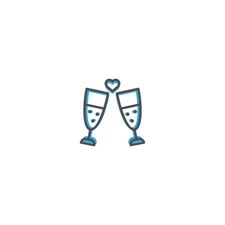 Toast Icon Design. Lifestyle icon vector design Standard-Bild - 128903532