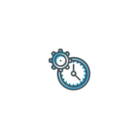 Modern and minimalist icon design. Management icon vector design illustration Reklamní fotografie - 128903533