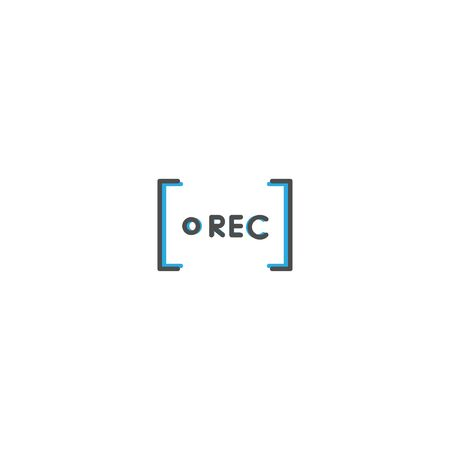 Rec icon design. Photography and video icon line vector illustration design
