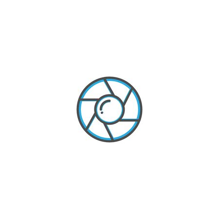 Shutter icon design. Photography and video icon line vector illustration design 向量圖像
