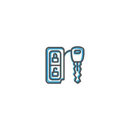 Car key icon design. Transportation icon vector illustration