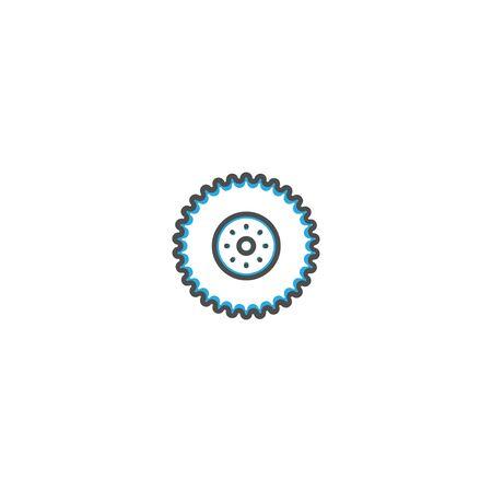 Wheel icon design. Transportation icon vector illustration 向量圖像