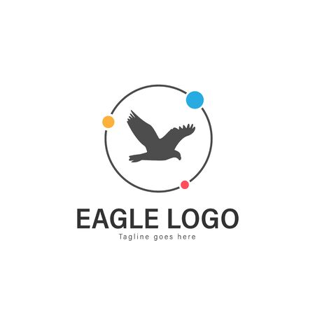 Eagle logo vector illustration. modern eagle logo template isolated on white background Banque d'images - 128904372
