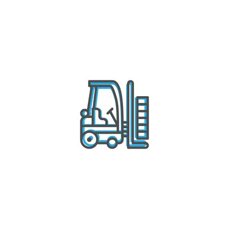 Forklift icon design. Transportation icon vector illustration