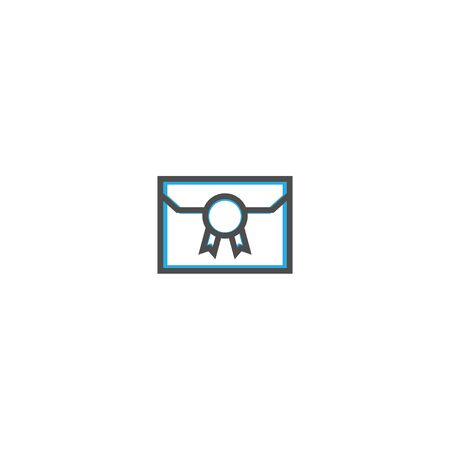 Letter icon design. Stationery icon vector illustration Ilustração