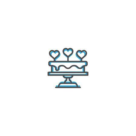 Wedding cake Icon Design. Lifestyle icon vector design Ilustracja