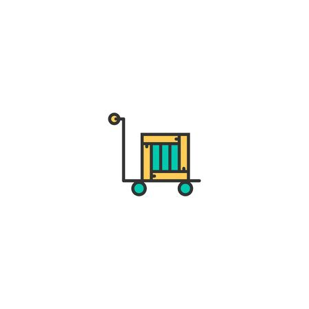 delivery cart icon line design. Business icon vector illustration