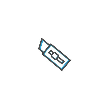 Cutter icon design. Stationery icon vector illustration