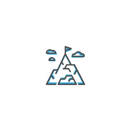 Mission icon design. Startup icon vector illustration Illustration