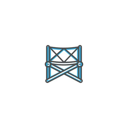 Chair icon design. Photography and video icon line vector illustration design