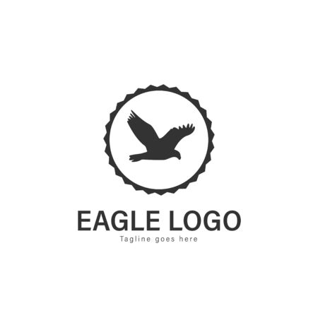 Eagle logo vector illustration. modern eagle logo template isolated on white background Banque d'images - 128904733