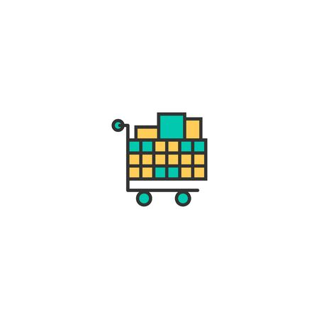 cart icon line design. Business icon vector illustration Иллюстрация