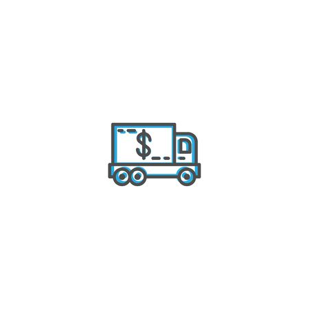 Delivery truck icon design. Shopping icon vector illustration