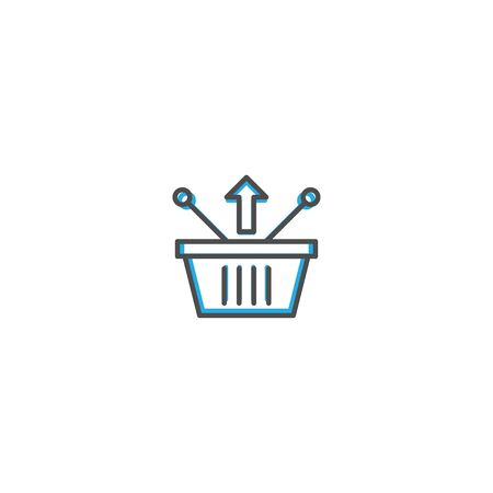 Shopping basket icon design. Shopping icon vector illustration