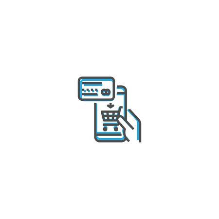 Online Shop icon design. Startup icon vector illustration