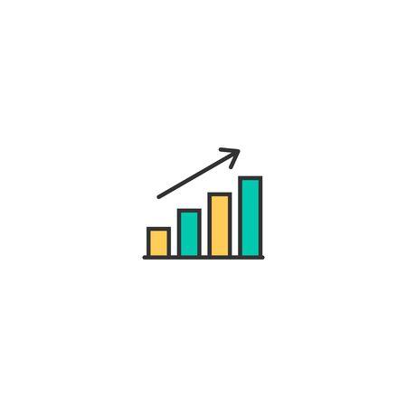 graph icon line design. Business icon vector illustration Ilustração