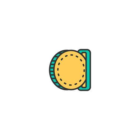 insert coin icon line design. Business icon vector illustration  イラスト・ベクター素材