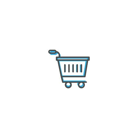 Shopping cart icon design. Shopping icon vector illustration Иллюстрация