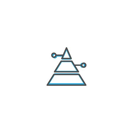 Pyramid icon design. Marketing icon line vector illustration design