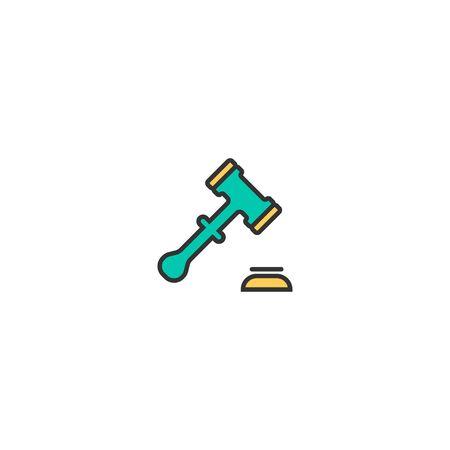 justice scale icon line design. Business icon vector illustration