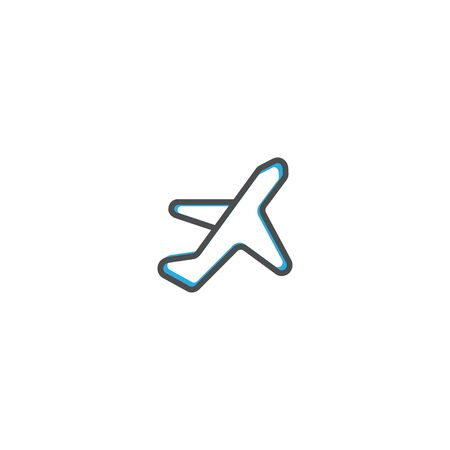 Airplane icon design. Transportation icon vector illustration
