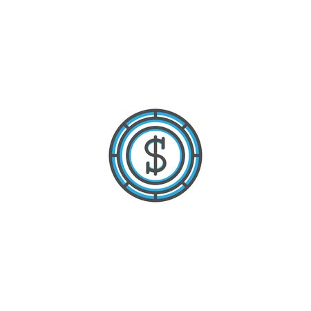 Coin icon design. Marketing icon line vector illustration design