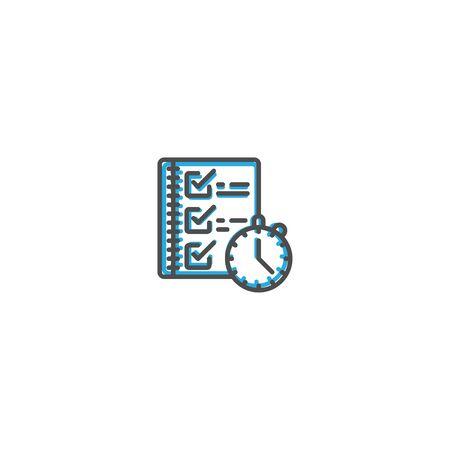 Modern and minimalist icon design. Management icon vector design illustration Reklamní fotografie - 128905321