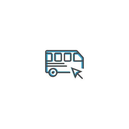 Bus icon design. Transportation icon vector illustration