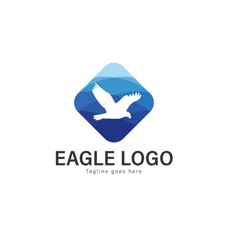 Eagle logo vector illustration. modern eagle logo template isolated on white background Banque d'images - 128905437